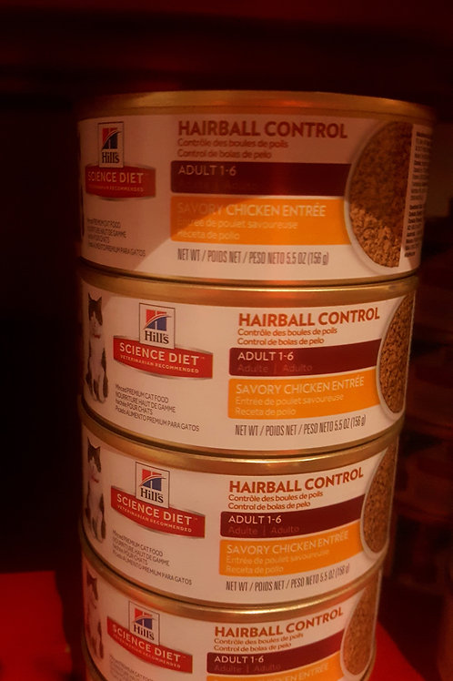 Hills Science Diet Hairball Controll Chicken Entree cans 156g