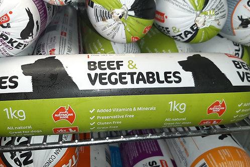 100 1kg roll Beef/Veg