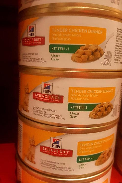 Hills Science Diet Kitten Tender Chicken Entree cans 156g