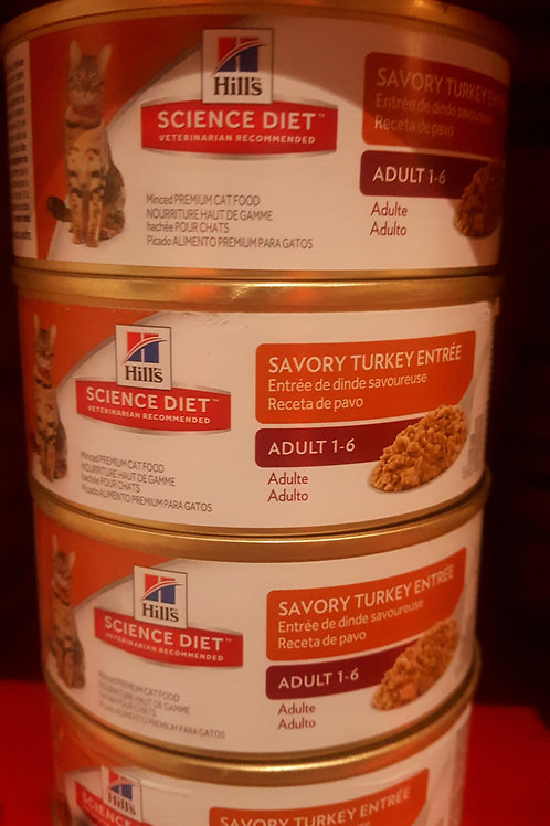 Hills Science Diet Savory Turkey Entree cans 156g