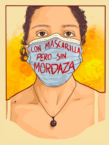 #ConMascarillaPeroSinMordaza