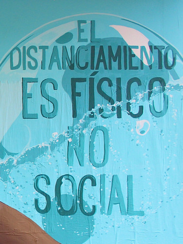 The distancing is physical not social