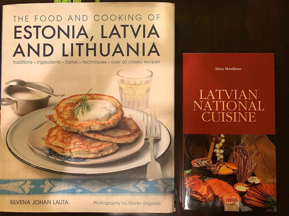 バルト三国の料理本とラトビア料理本