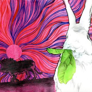 The rabbit and the lion/ El conejo y el león
