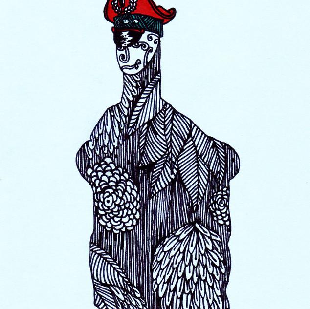 Character, silhouette #2./ Personaje, silueta #2.
