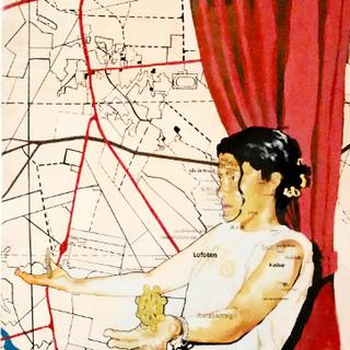 Detail, panel #2, Survival Map (Karsamaki version. Karsamaki, Finland)