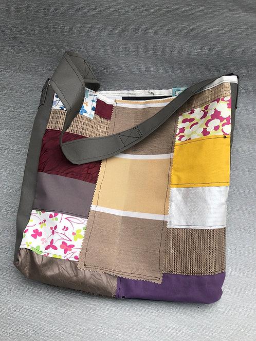 Eco Bag I - recycled fabric samples 42 W cm x 49 H cm no lining
