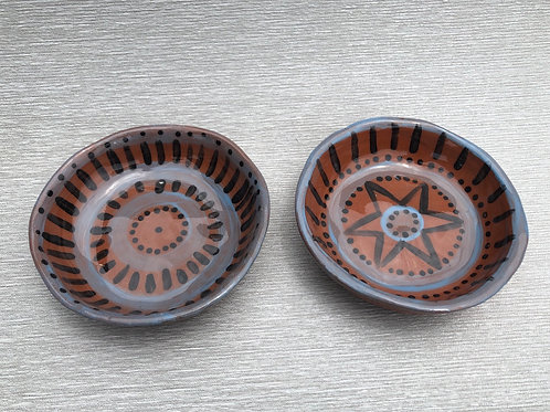 Small Bowls - terracotta decorated 12 W cm x 4 H cm