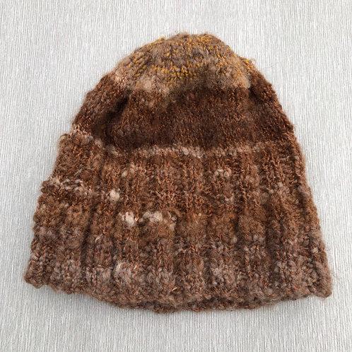 Alfonzo the Alpaca Hat II - hand spun alpaca  M-L