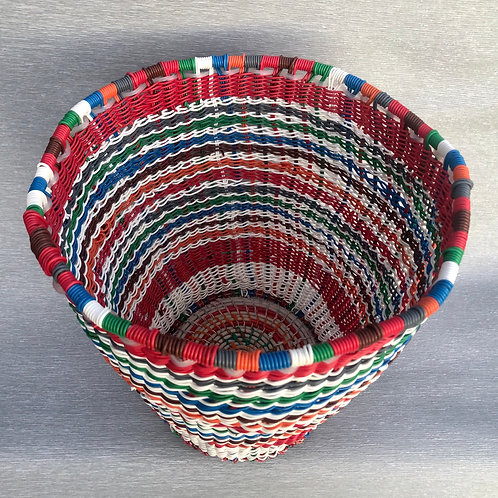 Blaze Basket - woven recycled cable wire 29 W cm x 28H cm