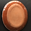 Thumbnail: Oval Plate- terracotta decorated 27 long cm x 23 Wcm x 3 deep