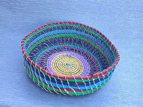 Bowl - recycled cable and wire 24W cm x 8H cm