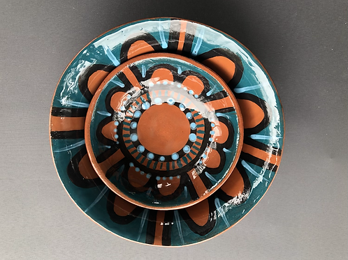 Big Bowl Little Bowl - terracotta decorated