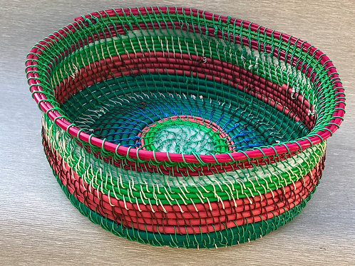 Fruit Basket - recycled cable and wire 30 W cm x13 H cm