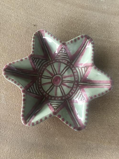 Star Bowl - terracotta decorated 20 W cm x 3 H cm