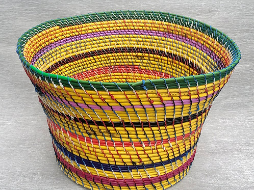 Big Yellow Basket - recycled cable and wire 35W cm x 23H cm