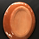 Thumbnail: Oval Plate- terracotta decorated 27 long cm x 23Wcm x 3 deep