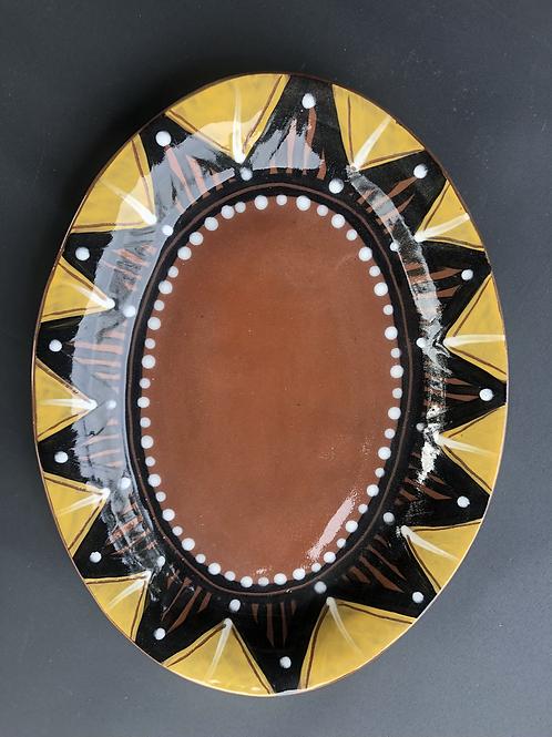 Yellow Oval Platter