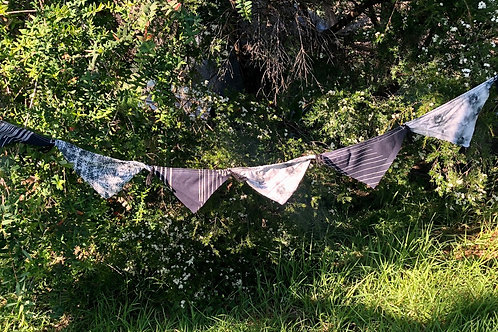 Bunting II with tassels - recycled cotton 5.2 metres