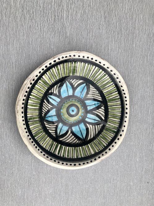 Salad Bowl - terracotta decorated 26 W cm x 6H cm