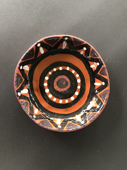 Small Bowl - terracotta decorated 12W cm x 4H cm