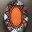 Thumbnail: Oval Platter - terracotta decorated 26 w x 35 cm long x 3 deep