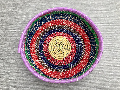 Bowl Basket II - recycled cable and wire 22 W cm x 7 H cm