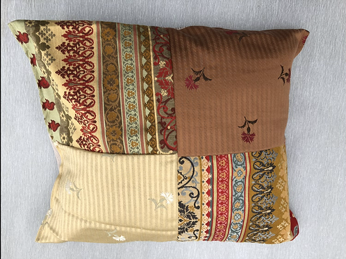 Tapestry Cushion- recycled fabric samples 58 cm x 50 cm