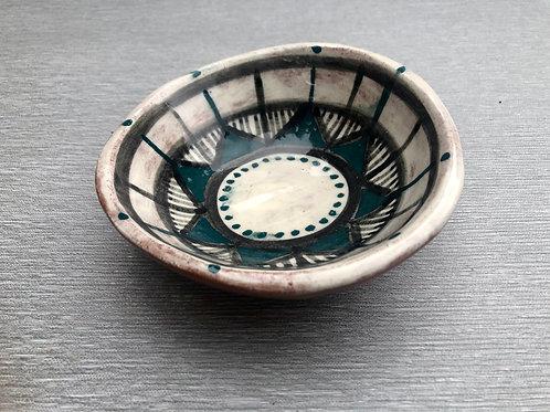 Dip Bowl II - terracotta decorated 14W cm x 4H cm