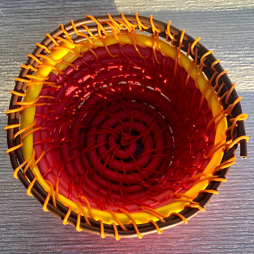 Mini Bowl - recycled plastic cable and wire 9 W cm x 5 H cm