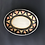 Thumbnail: Oval Plate- terracotta decorated 27 W cm x 3 H cm