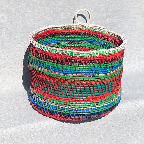 Storage Basket - recycled cable, plastic and wire 35W cm x 24H cm