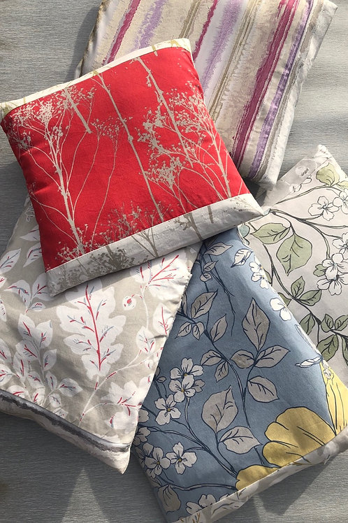 Collection of Cushion Covers - recycled fabric samples 38 W cm x 44