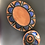 Thumbnail: Plate and Bowl Set - terracotta decorated