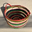 Thumbnail: Stripe Basket - recycled plastic, cable and wire 30 W cm x 20 H cm