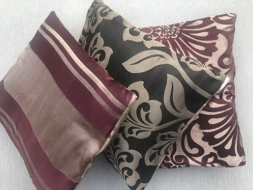 Cushions Set of 3 - recycled fabric samples 35 W cm x 38