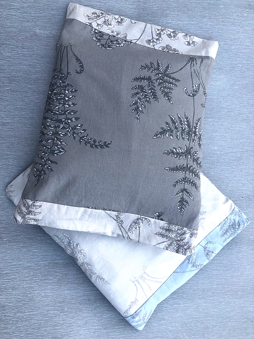 Fern Cushion Covers - recycled fabric samples 46 W cm x 37