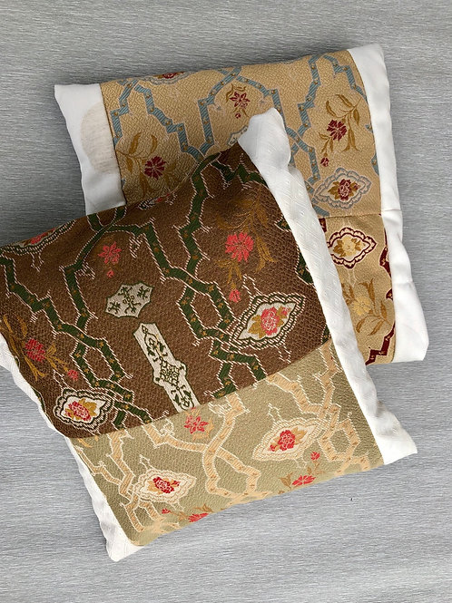 Tapestry Cushions  - recycled quality fabric samples 40 W cm x 38