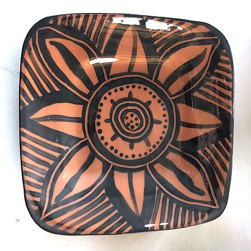 Platter - terracotta decorated 50 cm x 40cm