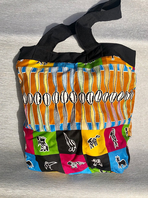 Patricia's African Bag III - cotton 40 Wcm X 44 Hcm