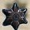Thumbnail: Black Star Bowl - terracotta decorated 20 W cm x 3 H cm