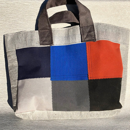 Eco Bag - recycled fabric samples 45 W cm x 32 H cm