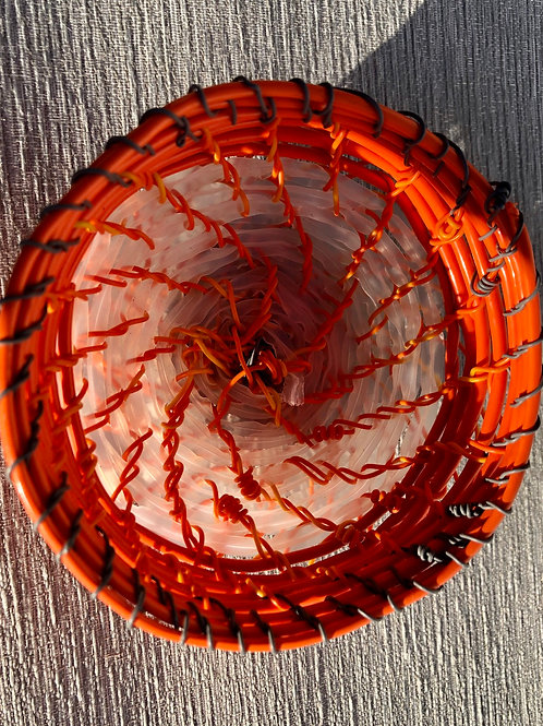 Mini Bowl - recycled plastic cable and wire 9 W cm x 4 H cm