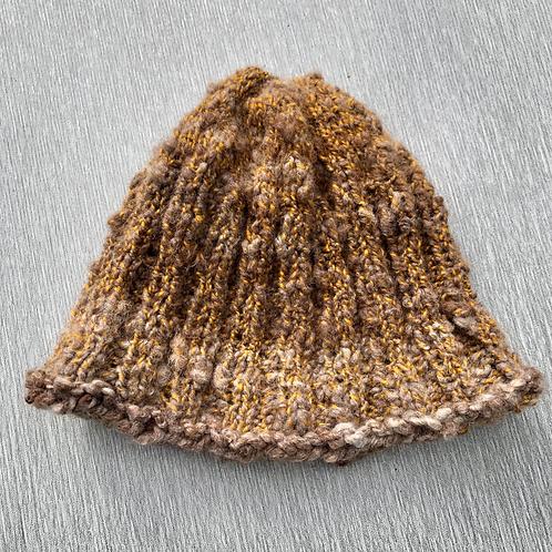 Alfonzo Hat III - hand spun alpaca M