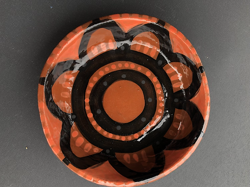 Small Dessert Bowl - terracotta decorated 12W cm x 4H cm