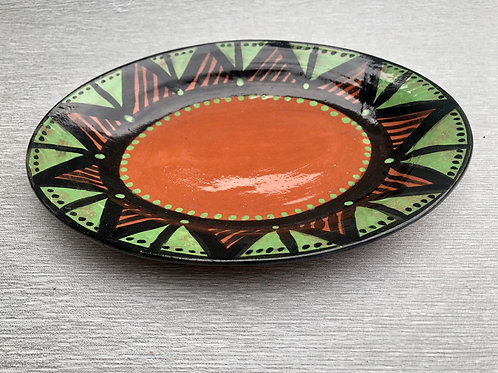 Oval Plate I - terracotta decorated 27 W cm x 3H cm