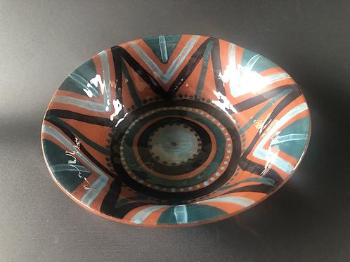 Breakfast Bowl - terracotta decorated 21W cm x 5H cm