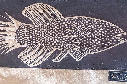 Two Fish Print W39cm x H27 cm