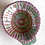 Thumbnail: Shell Dipping Bowls - terracotta decorated 12 W cm x 4 H cm