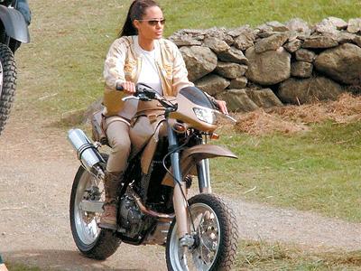 Angelina Jolie Suzuki DR650